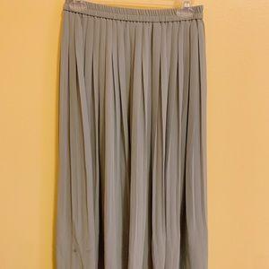 Blue/Grey pleated ankle length skirt